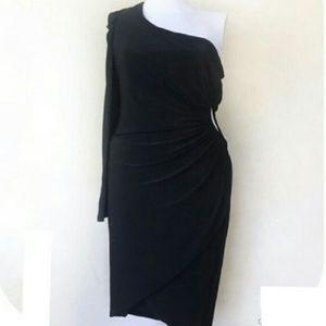 BETSEY & ADAM  XL NEW BLACK COCKTAIL DRESS